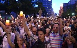 Proteste gegen Regierung in Polen Stockfotos