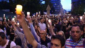 Proteste gegen Regierung in Polen Lizenzfreie Stockfotos