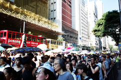Proteste in Hong Kong Stockfotografie