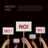 Proteste, ilustração do desacordo com lugar para o texto ilustração stock