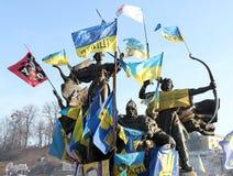 Proteste a Kiev. L'Ucraina Fotografia Stock