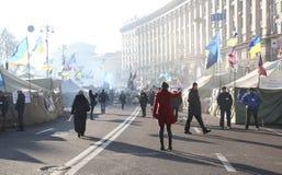 Proteste a Kiev. L'Ucraina Fotografie Stock Libere da Diritti