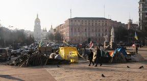 Proteste a Kiev. L'Ucraina Fotografie Stock
