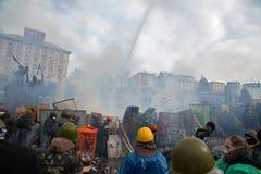 Proteste in Kiew Stockbild