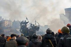 Proteste in Kiew Lizenzfreie Stockfotografie