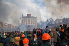 Proteste in Kiew Lizenzfreie Stockfotos