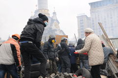 2014 Proteste in Kiew Lizenzfreies Stockbild