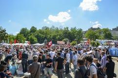 Proteste la distribución de los alimentos libre en el área, el experimentarde grande Fotografía de archivo libre de regalías