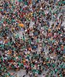 Proteste la favorables cultura y lengua catalan de Cataluña en la isla española de Mallorca fotografía de archivo libre de regalías
