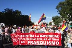 Proteste a Madrid Immagine Stock Libera da Diritti