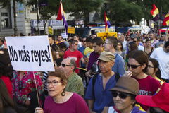 Proteste a Madrid Fotografia Stock Libera da Diritti