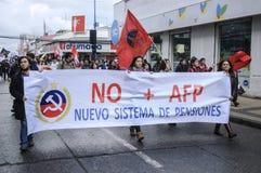 Proteste nel Cile immagini stock libere da diritti