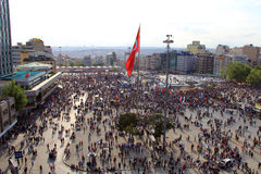 Proteste nel quadrato della Turchia Taksim Fotografie Stock Libere da Diritti