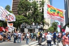 Proteste in Rio de Janeiro hat Gewalttätigkeit und Schaden Karnevals s Lizenzfreies Stockfoto