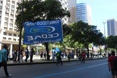 Proteste in Rio de Janeiro hat Gewalttätigkeit und Schaden Karnevals s Stockfotografie