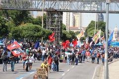 Proteste in Rio de Janeiro hat Gewalttätigkeit und Schaden Karnevals s Stockbilder