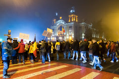 Proteste in Romania Fotografie Stock