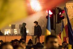 Proteste in Romania Fotografie Stock Libere da Diritti