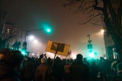 Proteste in Romania Fotografia Stock