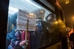 Proteste in Romania Fotografia Stock Libera da Diritti