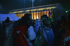 Proteste rumene fotografia stock libera da diritti