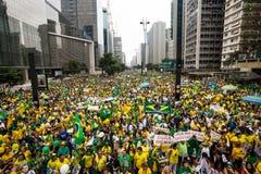 Proteste in Sao Paulo, Brasilien lizenzfreie stockbilder