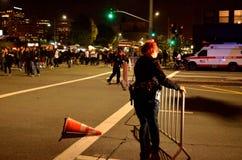 2015 proteste sociali a Oakland del centro Immagine Stock