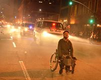 2015 proteste sociali a Oakland del centro Immagini Stock Libere da Diritti