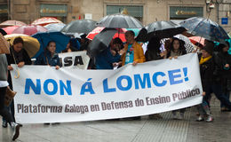 Proteste in Spagna Fotografie Stock