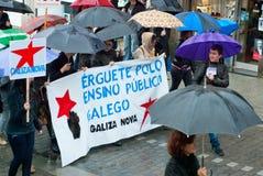 Proteste in Spagna Fotografia Stock