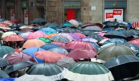 Proteste in Spanien Stockbild