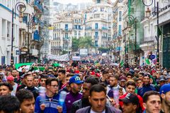 Historical protests in Algeria for changement