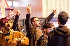 Proteste sulle vie di Costantinopoli fotografia stock