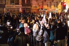 Proteste sulle vie di Costantinopoli immagine stock