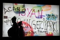 Proteste in Turchia, 2013 Fotografie Stock Libere da Diritti