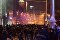 Proteste in Turchia Immagine Stock