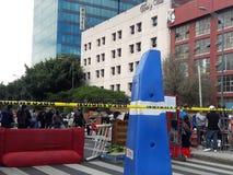 Proteste urbane nella megalopoli di Messico City immagine stock