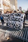 Proteste in Valparaiso Stockfoto