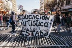 Proteste in Valparaiso Lizenzfreie Stockbilder