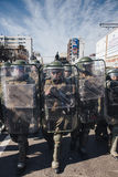 Proteste in Valparaiso Lizenzfreie Stockfotos