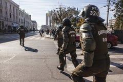 Proteste in Valparaiso Lizenzfreies Stockfoto