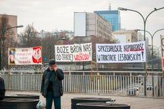 Proteste während des polnischen Unabhängigkeitstags in Warschau Lizenzfreies Stockfoto