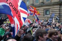 Protesteerders bij een demonstratie royalty-vrije stock afbeelding