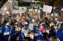 Protesteerders die worden gearresteerd Stock Afbeelding