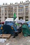 Protesteerders in Heilige Pauls, Londen, 2012 Stock Foto