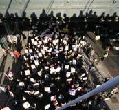 Protesteerders in Londen Stock Afbeeldingen