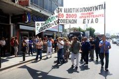 Protesteerders maart op de straten Royalty-vrije Stock Afbeeldingen