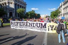 Protesteerders in Spanje stock afbeelding