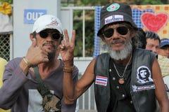Protesteerders TPN in Bangkok Stock Afbeelding