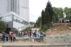 Protesteerders in Turkije in juni 2013 Stock Foto
